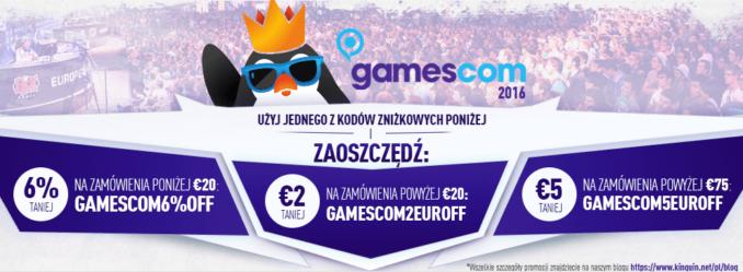 Promocja z okazji Gamescomu w Kinguinie – im więcej wydasz, tym więcej zaoszczędzisz