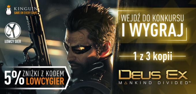 Giveaway: 3 klucze Steam do Deus Ex Mankind Divided