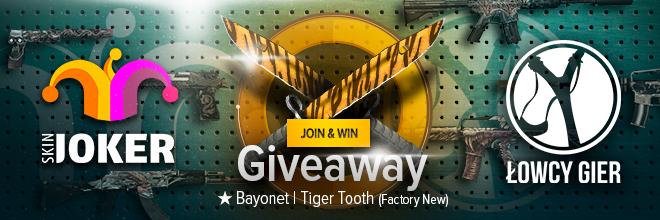 Giveaway skina do CS: GO – Bayonet | Tiger Tooth (Factory New)