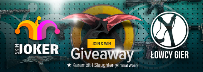 Giveaway: item do CS:GO – Karambit | Slaughter (Minimal Wear)