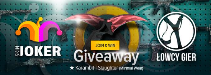Giveaway: item do CS:GO – Karambit | Slaughter (Minimal Wear)