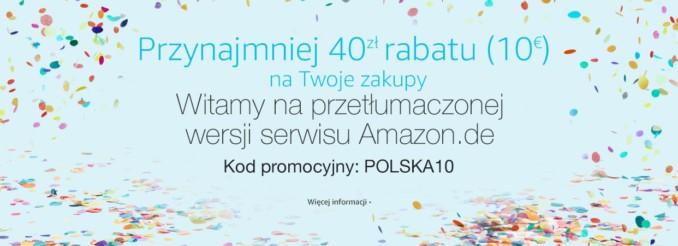 10 Euro rabatu na zakupy w Amazon DE (o minimalnej wartości 40€)