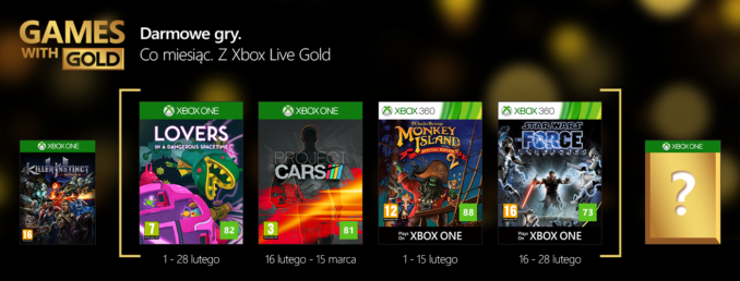Games with Gold na luty