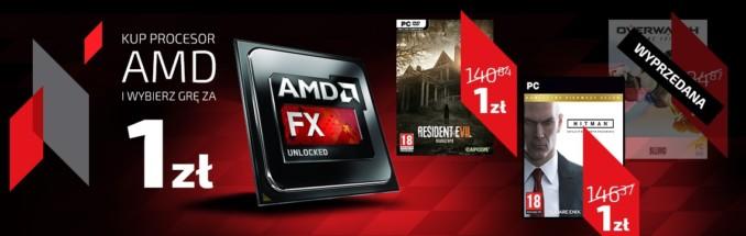 Kup procesor AMD w Sferis (min. cena 278,28 zł) i zgarnij Hitman: Complete Season lub Resident Evil 7 za 1 zł