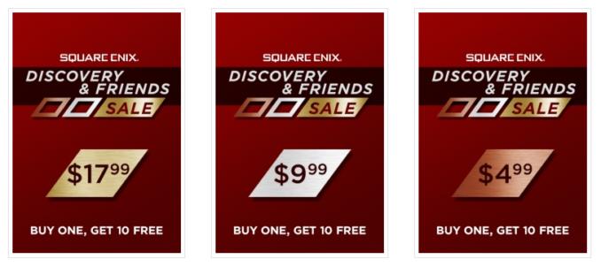 Bundle z grami Square Enix: kup 1, dostań 10 dodatkowych kopii gratis