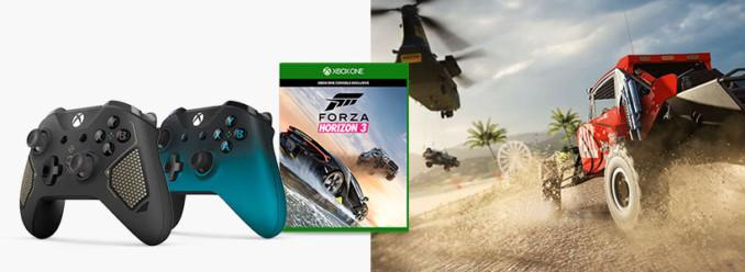 [Aktualizacja #2] Kup 1 z 2 najnowszych wersji kontrolera do Xbox One S, zgarnij grę Forza Horizon 3 za darmo