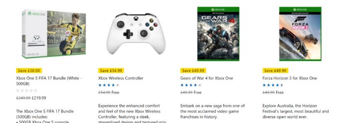 Xbox One S + dodatkowy kontroler + FIFA 17 + Gears of War 4 + Forza Horizon 3 za 1056 złotych z wysyłką