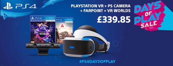 PlayStation VR + PS4 Camera + Farpoint + VR Worlds za 1715 zł z wysyłką do Polski w ShopTo