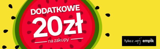 Rabat 20 zł na zakupy w Empiku (minimalna wartość zamówienia – 100 złotych)