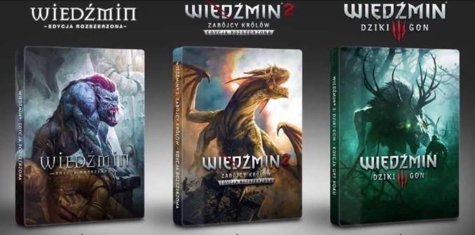 [Aktualizacja] Przegląd ofert na kolekcjonerskie steelbooki do serii Wiedźmin