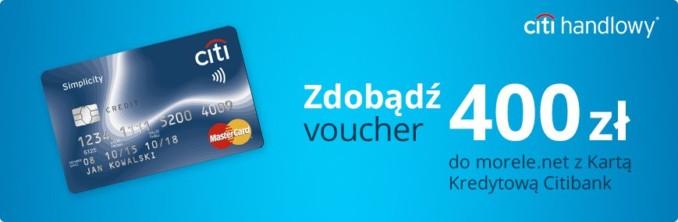 Zgarnij 400 złotych do wydania w sklepie Morele.net za założenie darmowej karty kredytowej