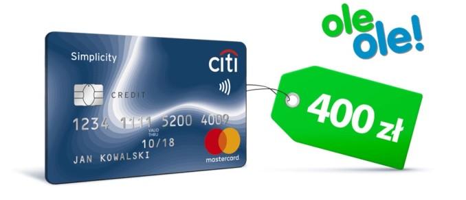 Zgarnij 400 złotych do wydania na Oleole.pl za założenie darmowej karty kredytowej