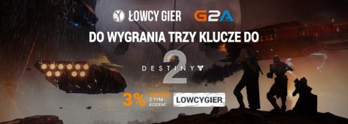 [Aktualizacja] Giveaway: wygraj 1 z 3 kluczy do Destiny 2