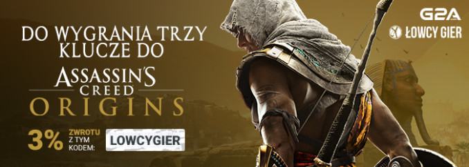 Giveaway: wygraj 1 z 3 kluczy do Assassin's Creed Origins