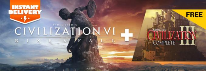 Civilization VI: Rise and Fall za 86,62 zł + natychmiastowa wysyłka + gratis Civilization III w GAMIVO