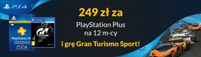 Abonament PlayStation Plus na 12 miesięcy za 179 zł lub z grą Gran Turismo Sport za 249 zł w Euro RTV AGD
