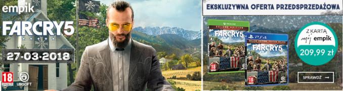 Far Cry 5 na konsole za 209,99 zł z kartą Mój Empik
