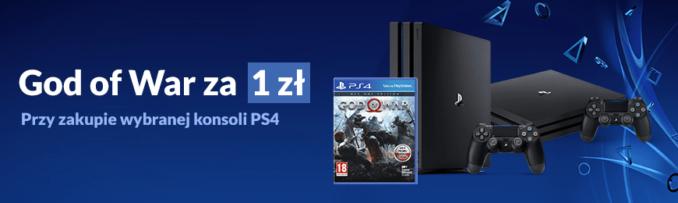 God Of War za 1 zł przy zakupie wybranej konsoli PS4 w Euro