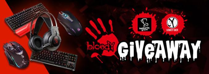 Giveaway: wygraj klawiaturę, myszkę lub słuchawki od Bloody