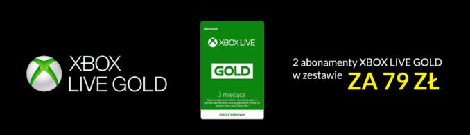 Dwa 3-miesięczne abonamenty Xbox Live Gold za 79 złotych w RTV EURO AGD