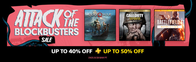 Attack of the Blockbuster Sale w amerykańskim PSN