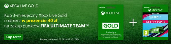 Kup Xbox Live Gold 3 miesiące w Komputroniku, zgarnij kod na 1050 FIFA Points na XOne