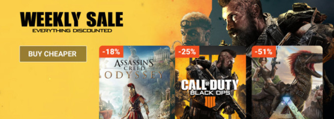 G2A Weekly Sale (12.10)