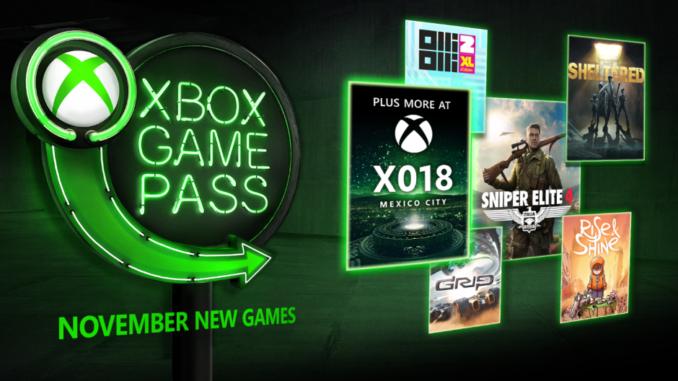 Xbox Game Pass – nowe gry w listopadzie