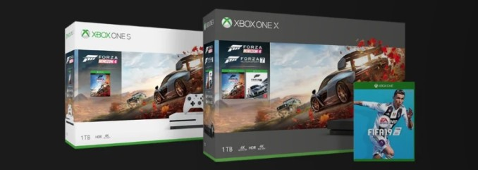 Konsola Xbox One X + Forza Horizon 4 + Forza Motosport 7 + FIFA 19 od 1780,85 zł w Microsoft Store [aktualizacja – znów dostępne!]