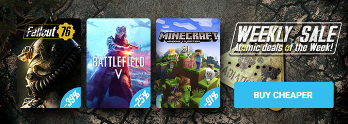 G2A Weekly Sale (16.11)