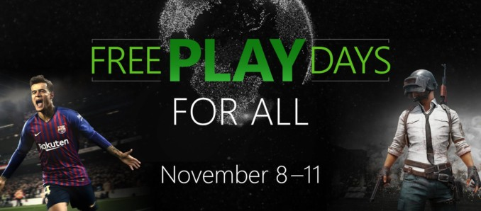 Darmowy weekend z PES 2019 i PUBG oraz darmowy multiplayer w ramach Xbox Free Play Days
