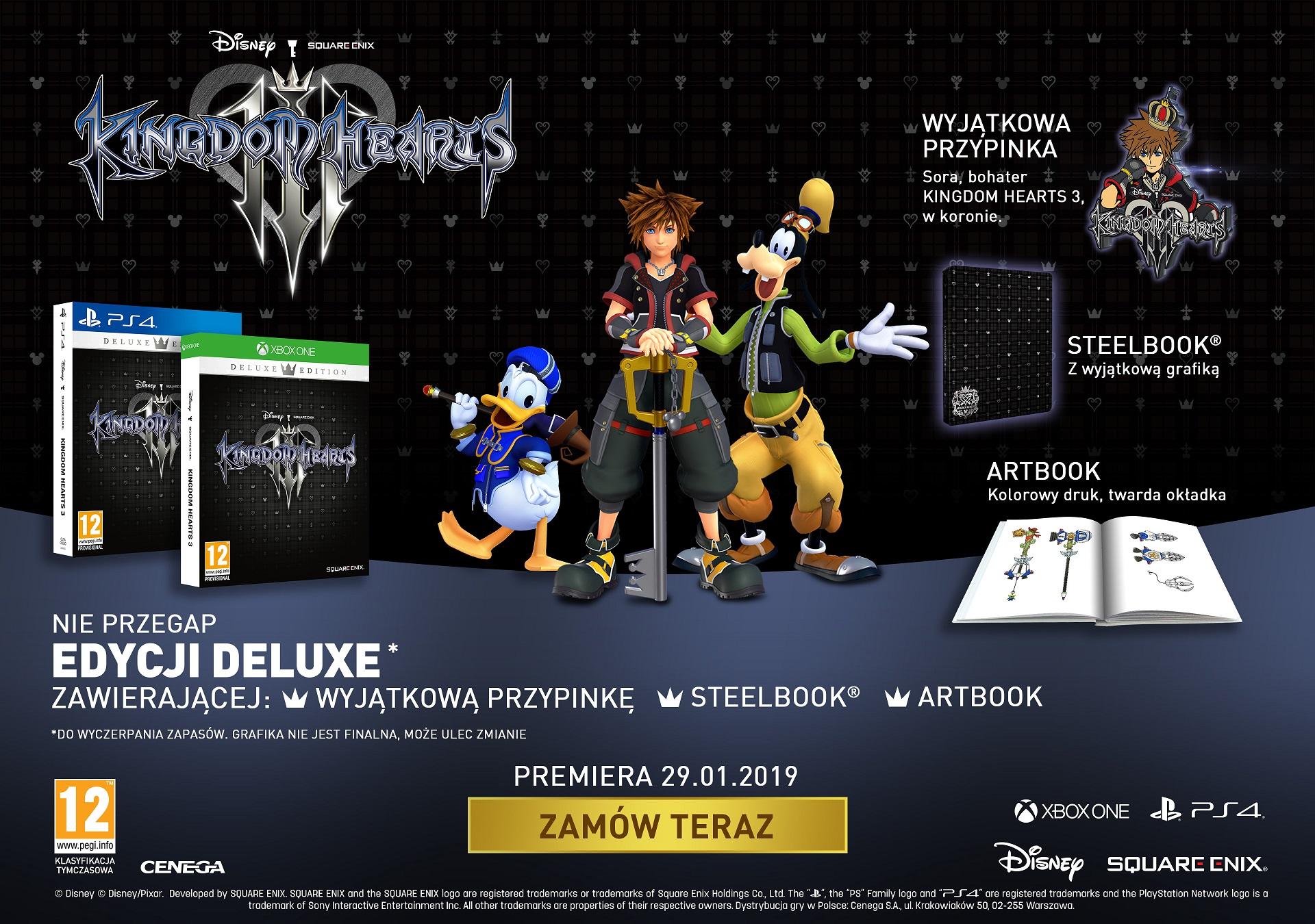 kingdom hearts 3 - edycja deluxe