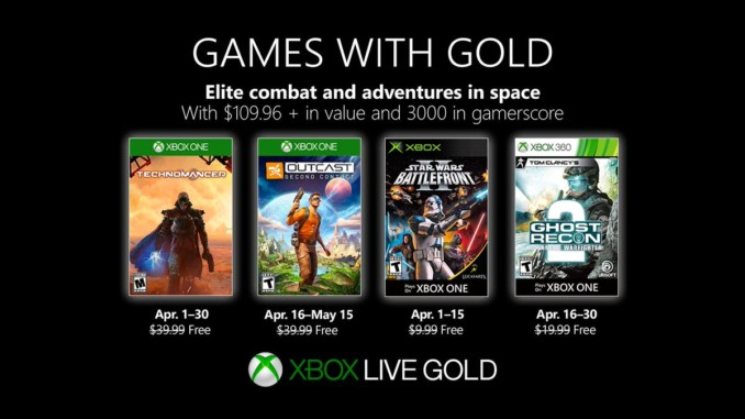 Games with Gold – kwiecień 2019