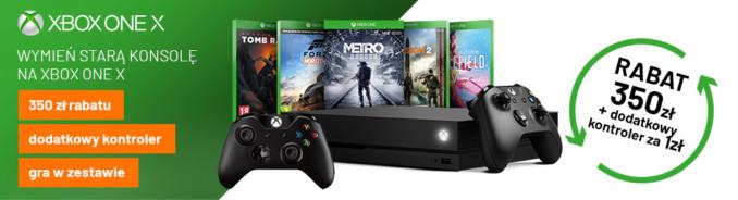 Zestaw z konsolą Xbox One X i jedną grą + dodatkowy kontroler od 1650 zł w Mediaexpert
