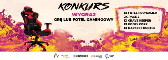 Giveaway – wygraj 1 z 2 kluczy do Rage 2, fotel gamingowy Pro-Gamer by Yumisu i inne