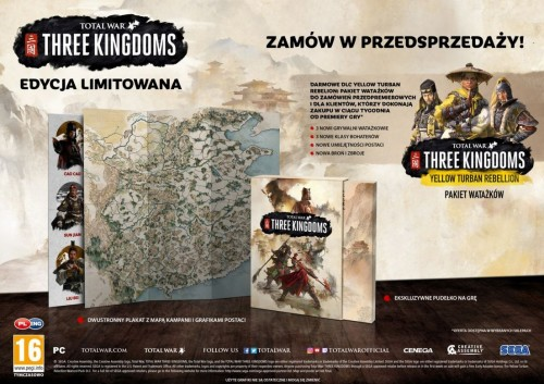 Promocja na Total War Three Kingdoms Limited