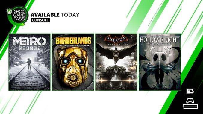 Kolejne gry w Game Passie na Xbox One