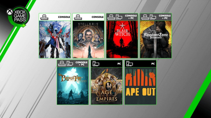Devil May Cry 5, Kingdom Come: Deliverance i 7 innych gier w Xbox Game Pass!