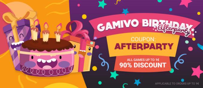 90% zniżki w GAMIVO na wszystkie gry poniżej 1€