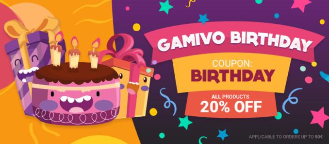 20% dodatkowego rabatu w GAMIVO na wszystko do 50€