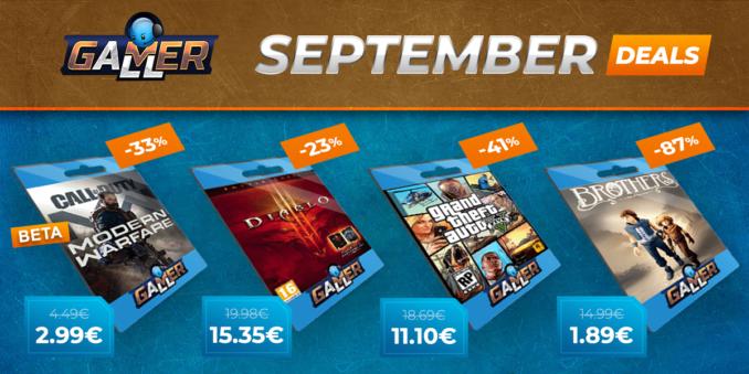 Gamerall – September Specials