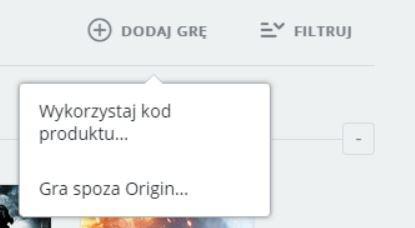 Origin klucz produktu