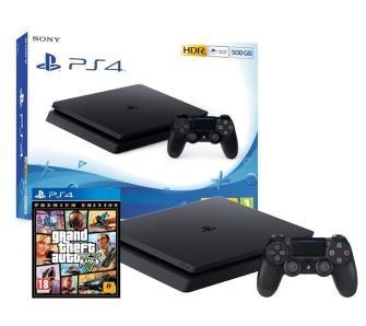 PlayStation 4 Slim 500GB + Grand Theft Auto V