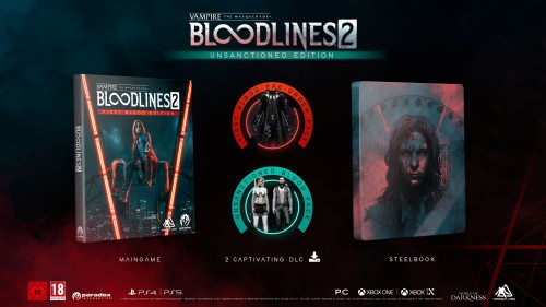 Promocja na Vampire The Masquerade – Bloodlines 2 Unsanctioned Edition + steelbook