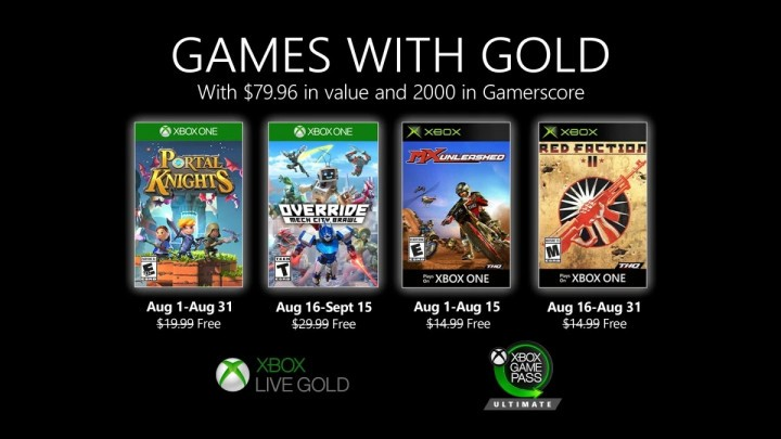 Games with Gold na sierpień 2020