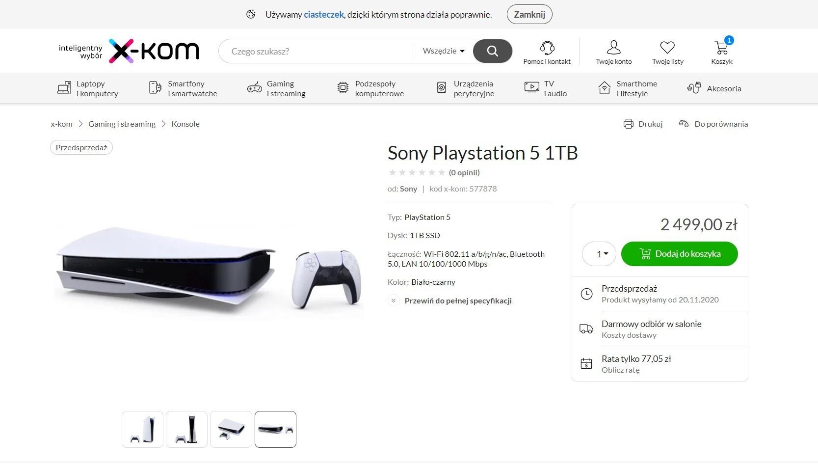 Cena PlayStation 5