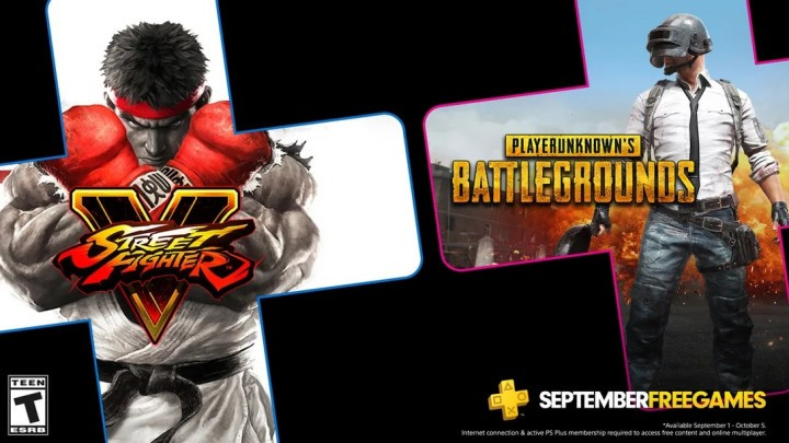PlayerUnknown's Battlegrounds Street Fighter V PS Plus