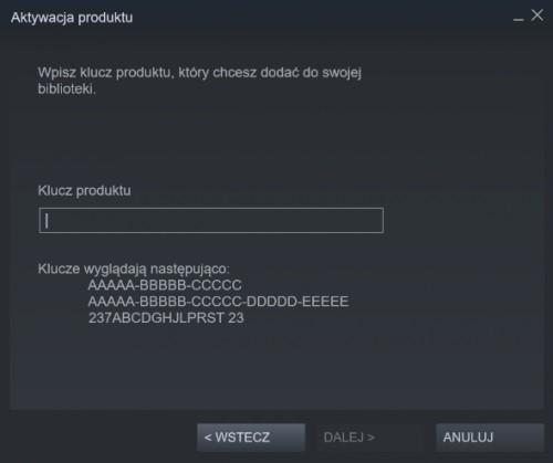 Steam aktywacja klucza