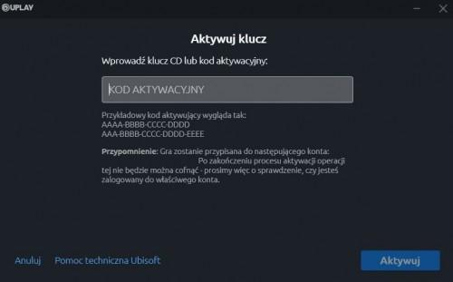 klucz aktywacyjny do Uplay