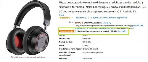 Promocja na słuchawki Utaxo UT-BH003